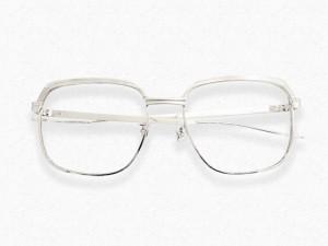 ホワイトゴールド 金縁眼鏡