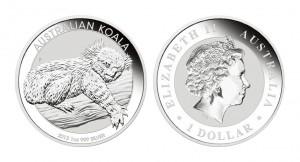 コアラ 銀貨