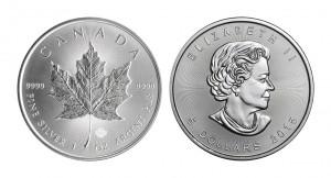 メイプルリーフ 銀貨