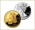 金・プラチナのコイン